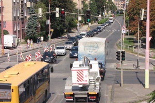 Hospodárska ulica v Trnave.