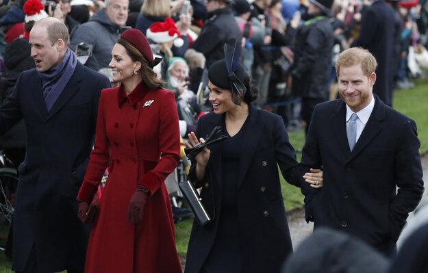 S bratom Williamom a jeho manželkou Kate.