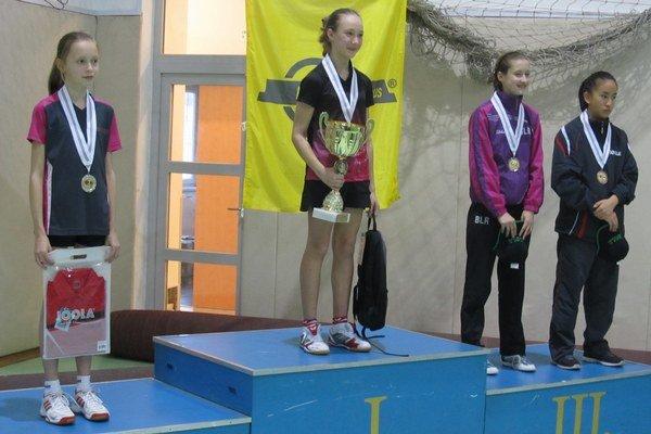 Zľava: Zuzana Peková, Darya Kisel, Nadzeya Radzivonava (obe Bielorusko), Viola Phan (Maďarsko).