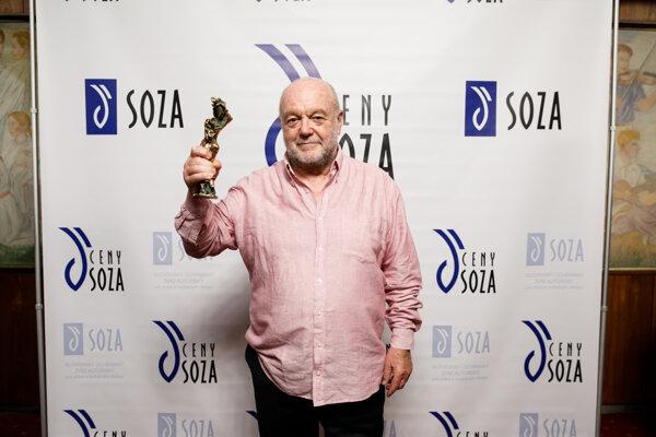 Peter Lipa (člen Dozornej rady SOZA) na Cenách SOZA 2018.