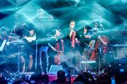 Katarzia počas minuloročného štvorkoncertu na festivale Viva Musica, na ktorom vystúpila s Danom Bártom, Janou Kirschner a Korben Dallas.