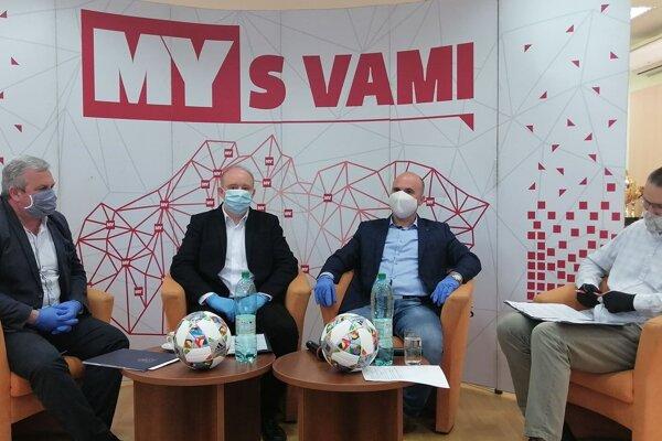 Zľava: Vladimír Karásek, Marián Rybár, Anton Laco a Martin Kilian.