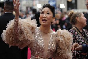 Sandra Oh počas oscarovej noci 9. februára 2020 v Los Angeles.