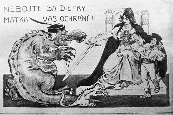 Dobový protimaďarský plagát