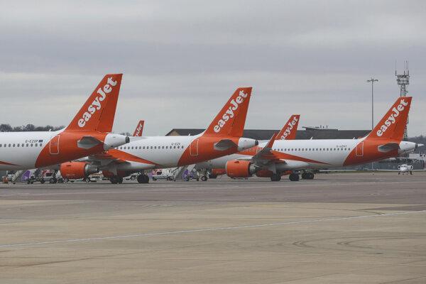 Britská letecká spoločnosť easyJet.