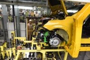 Výrobný proces nového elektromobilu Peugeot e-208 v závode PSA Groupe v Trnave.