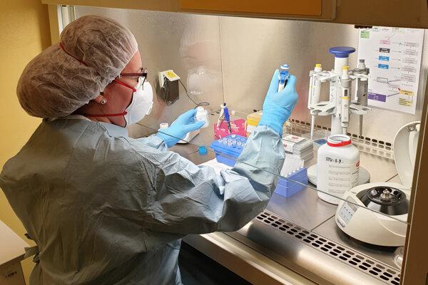 Laboratórna diagnóza nového typu koronavírusu SARS-CoV-2 v Ústave lekárskej a klinickej mikrobiógie v Univerzitnej nemocnici Louisa Pasteura v Košiciach.