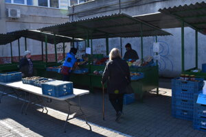 Na trhu v Prešove.
