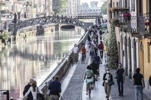 Milánska štvrť Navigli.