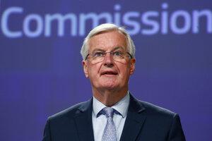 Vyjednávač EÚ pre brexit Michel Barnier.