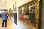 Z obrazu Maliarka kvetín vidieť, ako ateliér vyzeral.