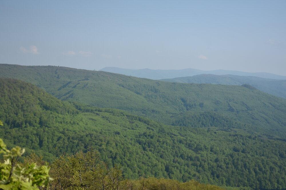 Výhľad z malého Sninského kameňa.
