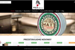 webová stránka dodávateľskej firmy