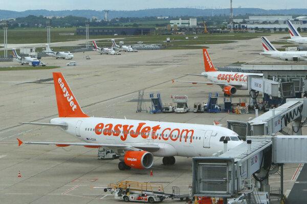 Lietadlá spoločnosti easyJet.