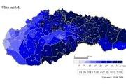 Úhrn zrážok od 1. do 2. júna 2010 vytvorený na modeli Aladin ukazuje, že na väčšine východného Slovenska malo výdatne pršať.