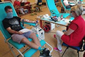 Darovanie krvi v Lehote pod Vtáčnikom.