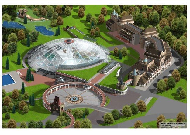 Takto by podľa spoločnosti Čajka Bojnice mal vyzerať aqupark, ubytovacie zariadenia a blízky zábavný park.