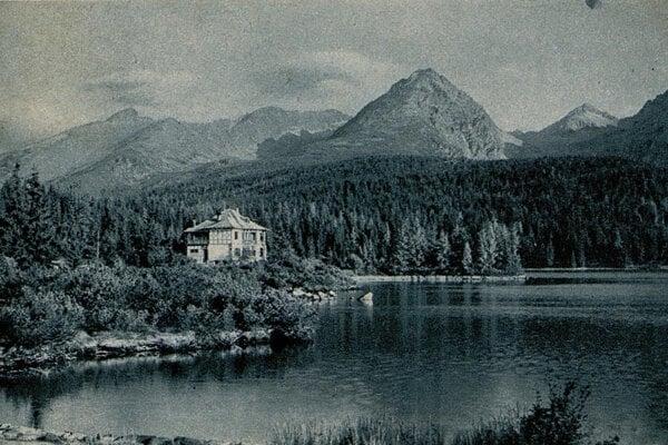 Pohľadnica zo Štrbského Plesa z roku 1924.