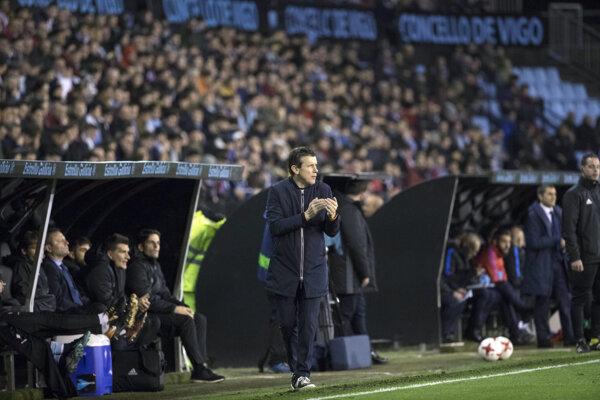 Juan Carlos Unzue na lavičke Celty Vigo.