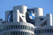 Logo nemeckého výrobcu luxusných áut BMW v Mníchove.