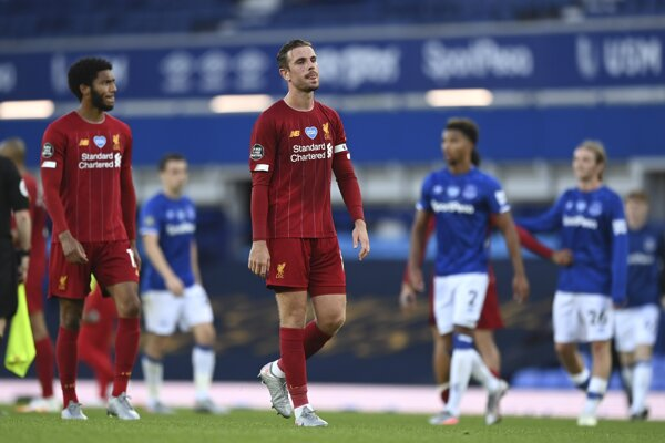Jordan Henderson po zápase Liverpool FC - FC Everton.