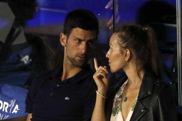 Novak Djokovič s manželkou Jelenou.