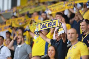 Fanúšikovia FC DAC 1904 Dunajská Streda.