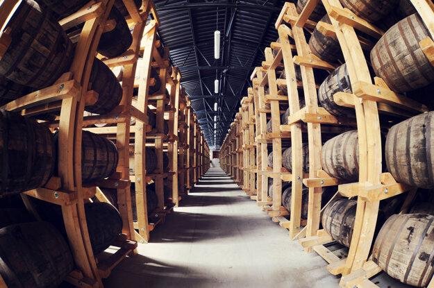 Sklady, v ktorých zreje Nestville Whisky.