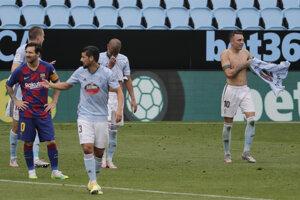 Momentka zo zápasu Celta Vigo - Barcelona.
