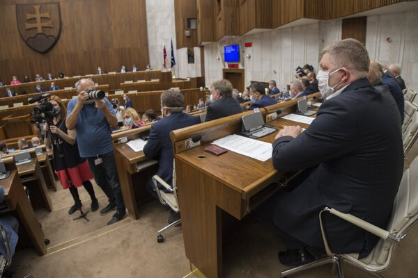 Rokovanie parlamentu v Bratislave 7. júla 2020.