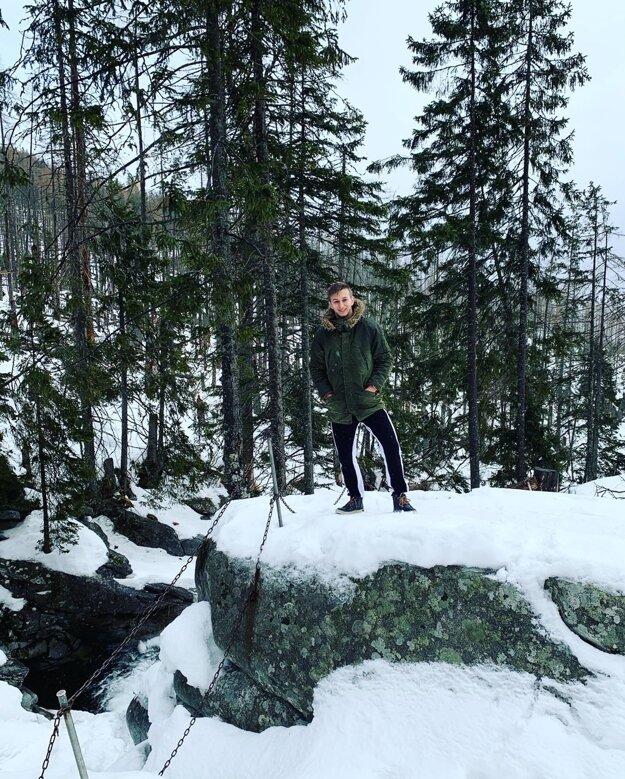 Antoška počas zimnej turistiky.