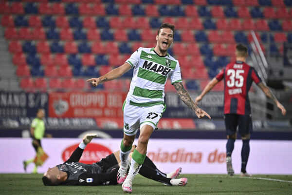 Lukáš Haraslín v drese Sassuolo Calcio.