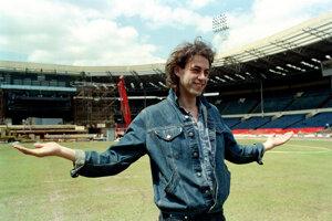 Bob Geldof pred koncertom v roku 1985.