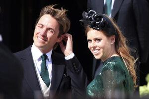 Britská princezná Beatrice a jej manžel Edoardo Mapelli Mozzi.