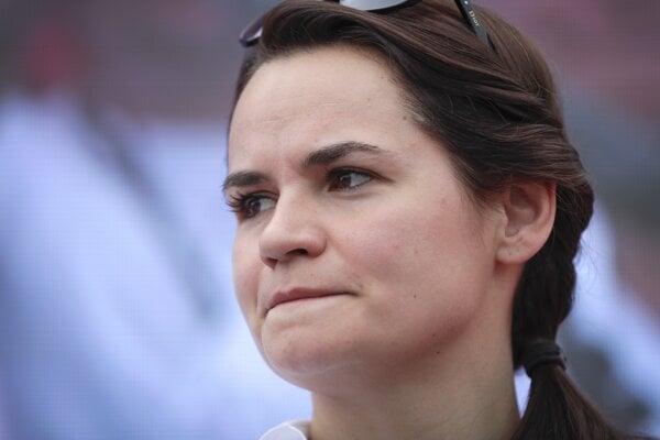 Prezidentská kandidátka Sviatlana Cichanovská.