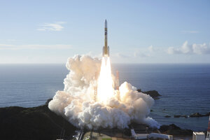 Štart rakety H-IIA z vesmírneho centra Tanegašima 20. júla 2020.