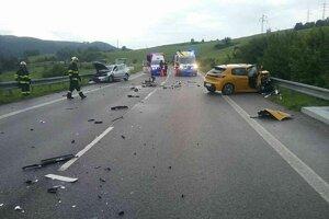 Nehoda pôsobila hrozivo.