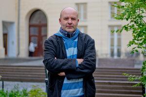 Martin Fafejta prednáša na Filozofickej fakulte Univerzity Palackého v Olomouci
