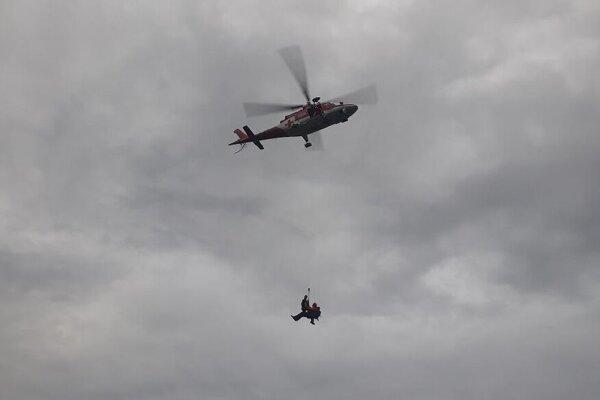 Momentka zo záchrannej akcie.
