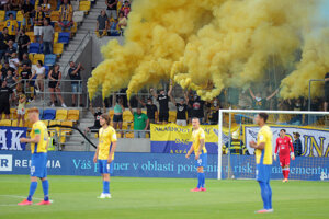 Futbalisti FC DAC Dunajská Streda na ilustračnej fotografii.
