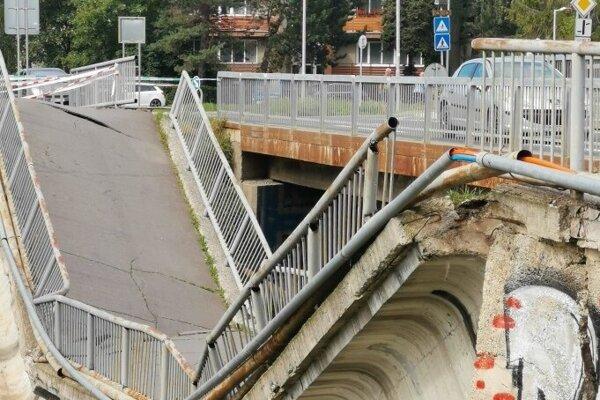 Most, ktorý v Spišskej padol koncom júla.