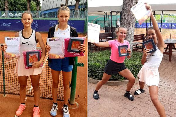 Lucia Hradecká je na fotokoláži celkom vľavo a celkom vpravo.