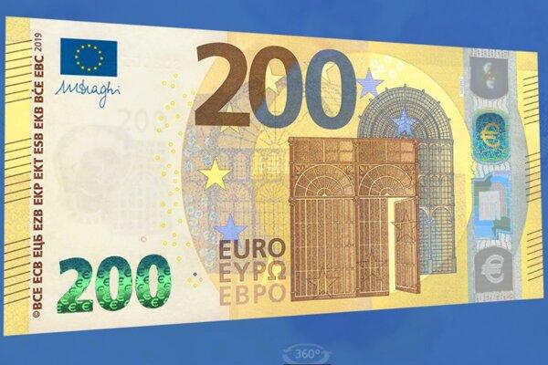 Ak vám bude niekto platiť dvestoeurovkou, poriadne ju skontrolujte, či nie je falošná.