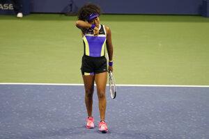 Naomi Osaková v 1. kole US Open 2020.