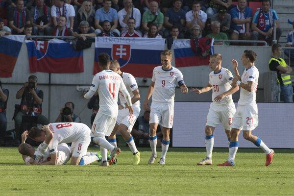 Futbalisti Česka - ilustračná fotografia.