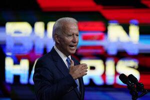 Joe Biden v priebehu kampane v meste Wilmington v štáte Delaware.