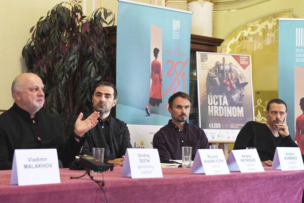 Tlačová konferencia na tému Vízia smerovania divadla a dramaturgický plán na sezónu 2020/2021.