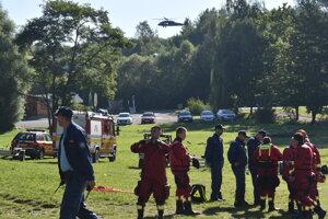 Na cvičení nechýbal vrtuľník.