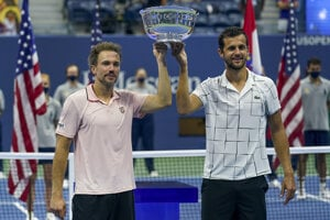 Bruno Soares a Mate Pavič po víťazstve na US Open.