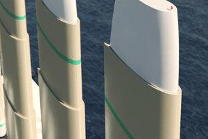 Loď s vysunutými sťažňami bude mať výšku 105 metrov, so stiahnutými 45 metrov.